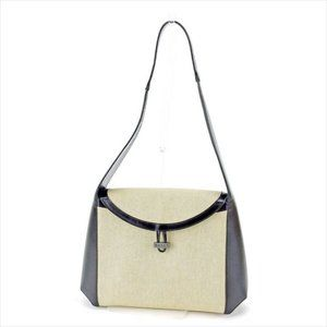 Bally Shoulder bag Beige Black Woman Authentic Used